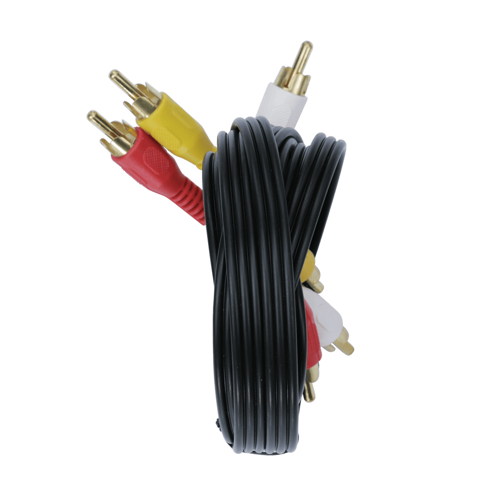RCA306GDB, 6ft (1.83m) 3 RCA Stereo Audio/Video Patch Cable