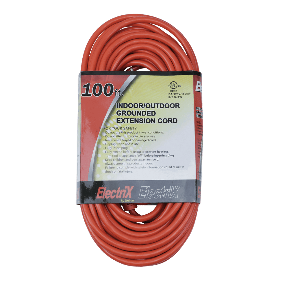 EC16100ULF, 100ft Indoor/Outdoor Grounded Extension Cord