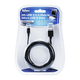 CA604 BK DB, 6ft USB 2.0A Male to Micro USB B Male