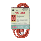 EC1610BUL, 8ft Extension Cord with Triple-Outlet