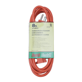 EC1610UL, 8ft Indoor/Outdoor Grounded Extension Cord