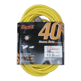 EC12503PC, 40ft Heavy Duty Indoor/Outdoor Multi Outlet Extension Cord