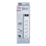 PS08S, 6 Outlet Power Strip with Surge Protection