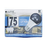 KL11753RS, 3-Pack 75W Frosted Light Bulbs Medium Base Dimmable