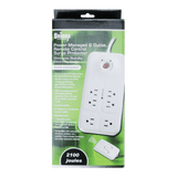 PS102, Power Managed 6 Outlet Remote Control Surge Protector