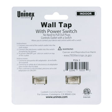 PS26-2, Wall Tap with Power Switch