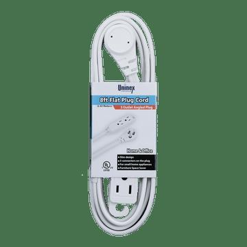 EC1608AUL, 8ft Flat Plug Cord