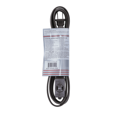 AC09UL BR, 9ft Household Extension Cord