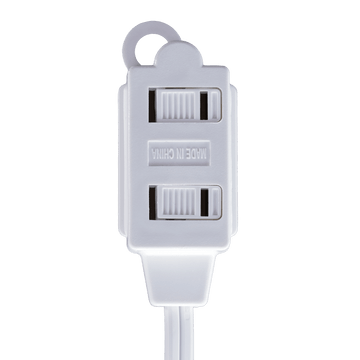 AC12UL WT, 12ft Household Extension Cord