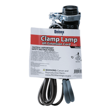 AC1806CL, Clamp Lamp 6ft Extension Cord