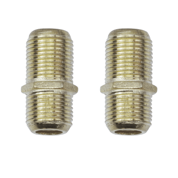 "FB05G, 2 Pack ""F"" Connector Coupler/Extension Adapter"