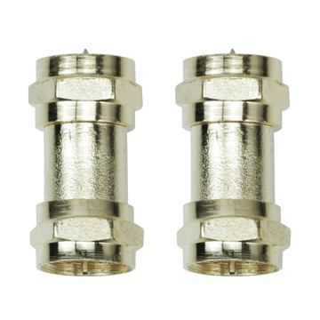 """FB09G, 2 Pack """"F"""" Connection Coupler/Extension Adapter"""