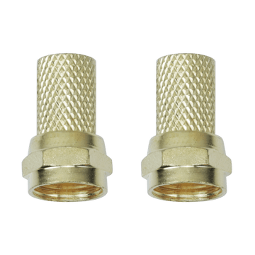FB10G, 2 Pack Twist-On RG6 Cable Connector
