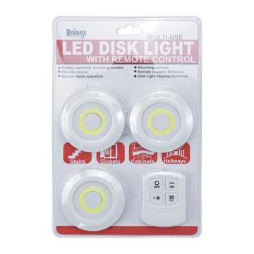KL1015, Multi-Use LED Disk Light with Remote Control