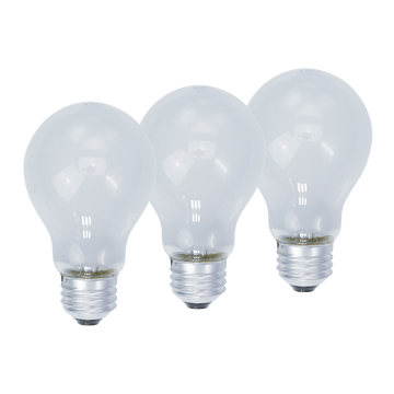 KL11403RS, 3-Pack 40W Frosted Light Bulbs Medium Base Dimmable