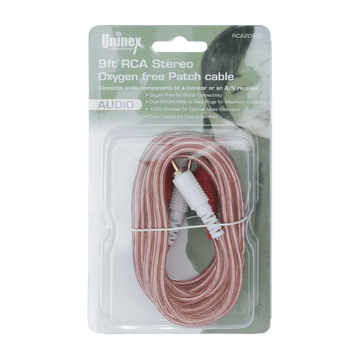 RCA209CL, 9ft RCA Stereo Oxygen Free Patch Cable