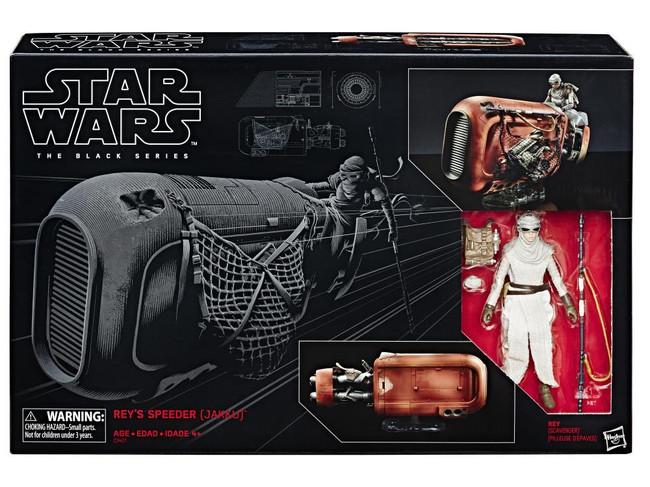 Black Series 6-inch Deluxe Rey with Speeder Figure Vehicle Set