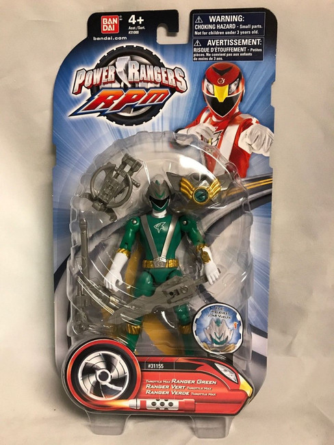 Power Rangers RPM Throttle Max Green Action Figure