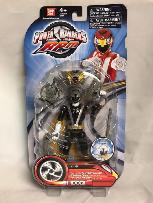 Power Rangers RPM Throttle Max Black Action Figure