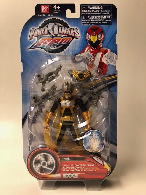 Power Rangers RPM Throttle Max Gold Action Figure