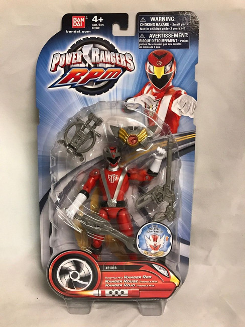 Power Rangers RPM Throttle Max Red Action Figure