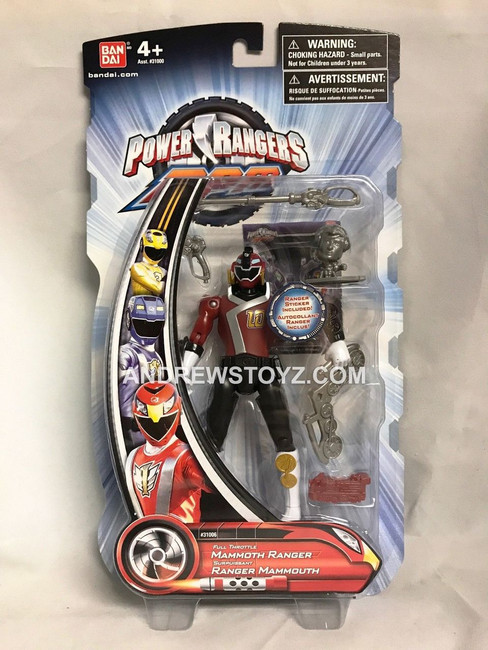 Power Rangers RPM Full Throttle Mammoth Red/Maroon Action Figure