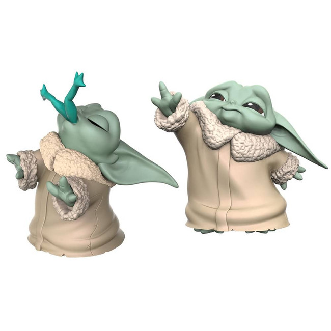The Child Baby Yoda Force & Frog Figure 2-Pack
