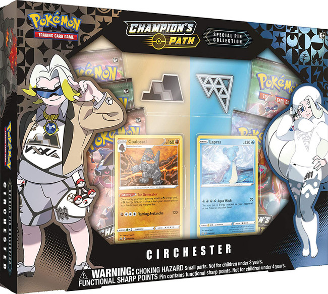 Pokemon Champion's Path Circhester Special Pin Collection