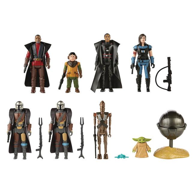 Retro Collection The Mandalorian Set of 8 Figures