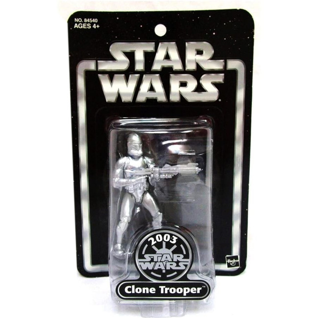 Silver Clone Trooper 2003 ToysRUs Exclusive
