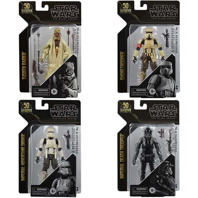 Black Series 6-inch Archive Collection Wave 4 Set of 4