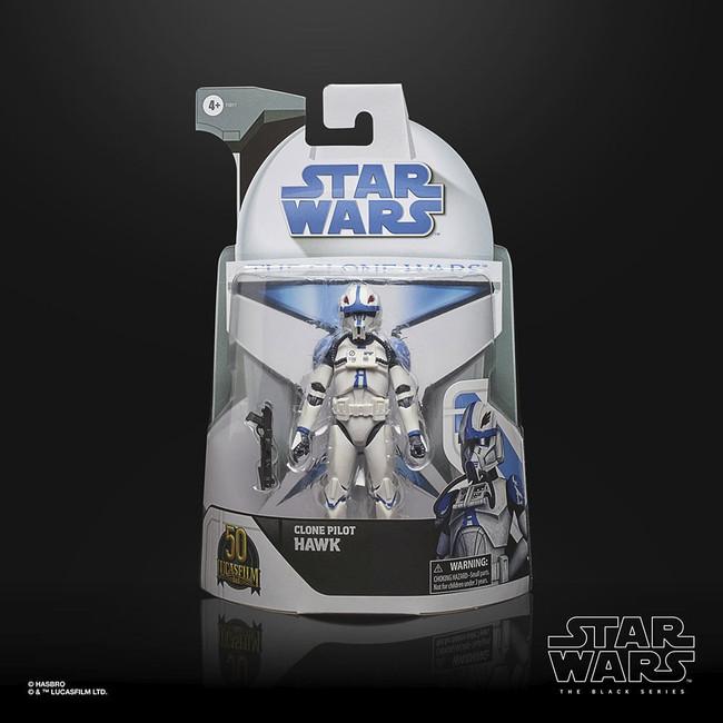 Black Series 6-inch Lucasfilm 50th Anniversary Clone Wars Clone Pilot Hawk