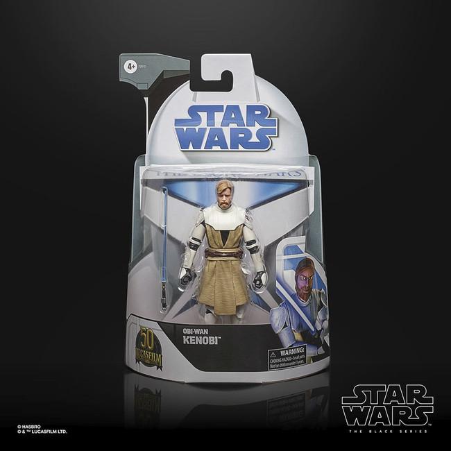 Black Series 6-inch Lucasfilm 50th Anniversary Clone Wars Clone Commander Obi-Wan