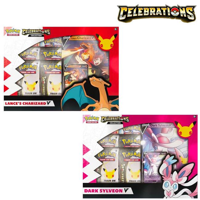 Pokemon: Celebrations Collections Lance's Charizard V & Dark Sylveon (Set of 2)