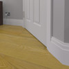 Stepped 3 MDF Skirting Board in HDF Fitted - 150mm x 18mm