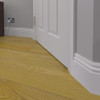 Vintage 1 MDF Skirting Board Installed - 150mm x 18mm HDF