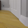 Vintage 2 MDF Skirting Board Installed - 150mm x 18mm HDF