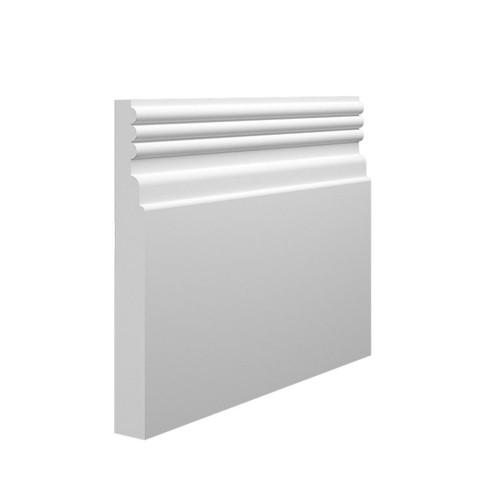 Reeded 3 MDF Skirting Board - 145mm x 18mm HDF