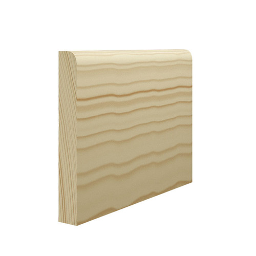 Bullnose Pine Skirting Board - 144mm x 21mm