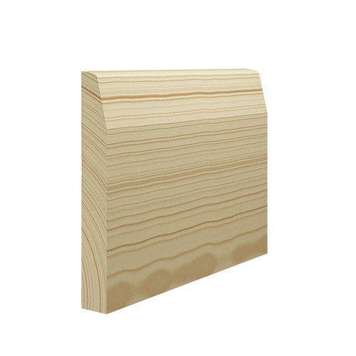 Chamfer Round Pine Skirting Board - 144mm x 21mm