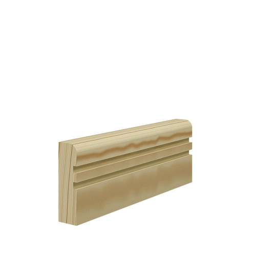 Grooved 2 Bullnose Pine Architrave - 69mm x 21mm