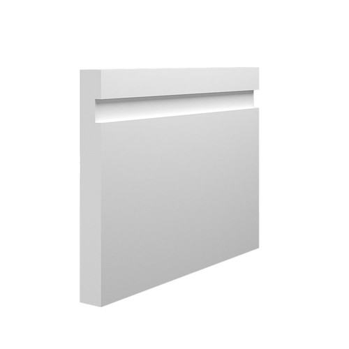 15mm Grooved MDF Skirting Board Sample in 145mm x 18mm HDF