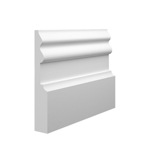 Noble 2 MDF Skirting Board Sample - 145mm x 25mm HDF