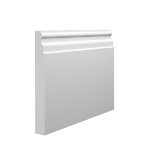 Reeded 1 MDF Skirting Board Sample - 145mm x 18mm HDF