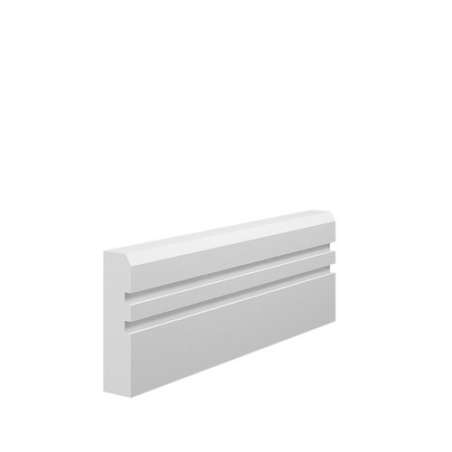 Grooved 2 Chamfered MDF Architrave Sample - 70mm x 18mm HDF