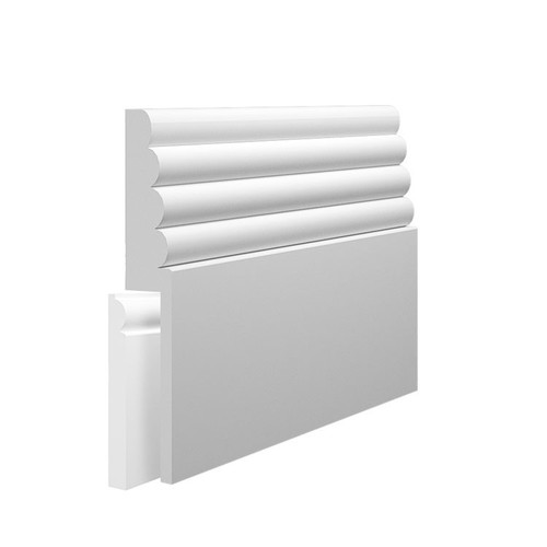 Cloud MDF Skirting Board Cover over existing skirting