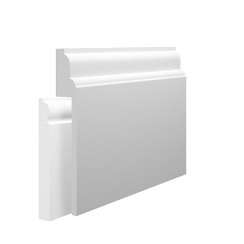 Lambs Tongue 1 MDF Skirting Board Cover over existing skirting
