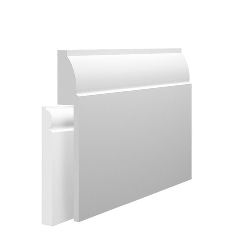 Mini Ovolo MDF Skirting Board Cover over existing skirting