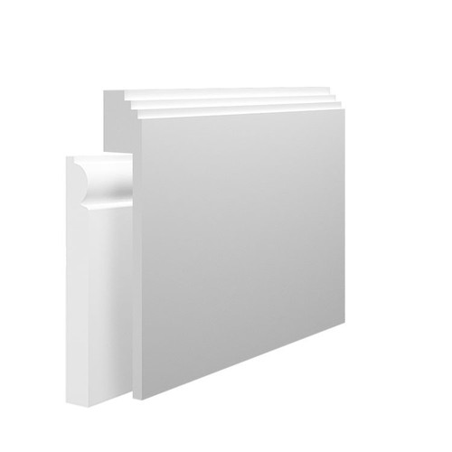 Mini Stepped MDF Skirting Board Cover over existing skirting
