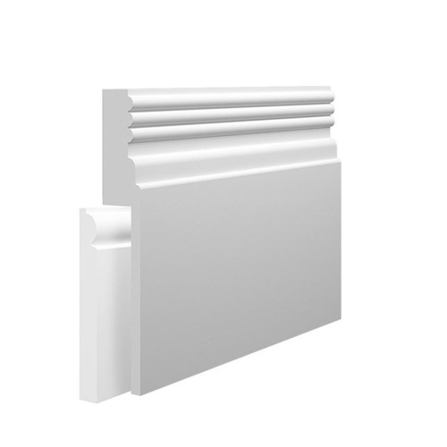 Reeded 3 MDF Skirting Board Cover over existing skirting